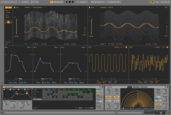 Ableton Live 10 with Wavetable