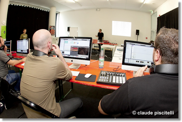 Big brain audio workshop in Luxembourg 2011 class shot